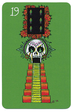 Turm im Day of the Dead Lenormand