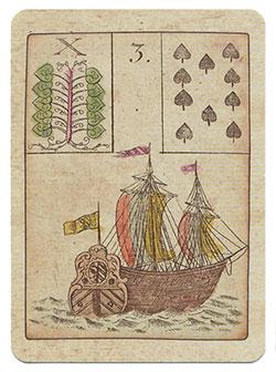 Ur-Lenormand Karte Schiff