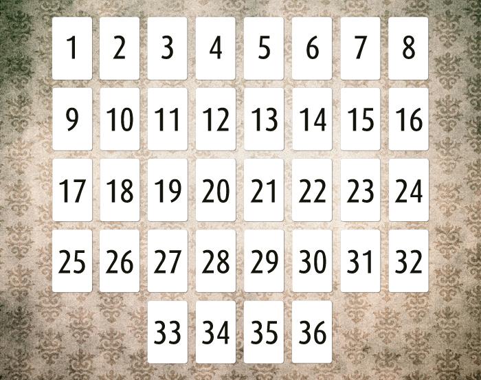 Lenormand Grundlagen 8x4 System