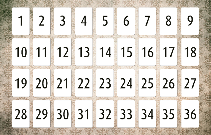 Lenormand Grundlagen 9x4 System