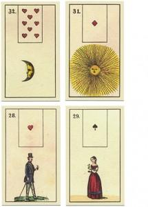 Historisches Kartendeck von 1850
