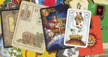Eine Übersicht verschiedener Lenormand Kartendecks