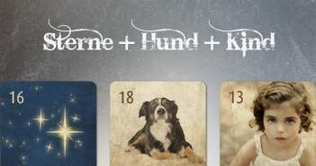 Kombination Sterne Hund Kind