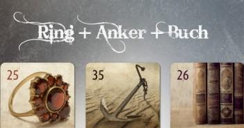 Lenormand Kombination Ring Anker Buch