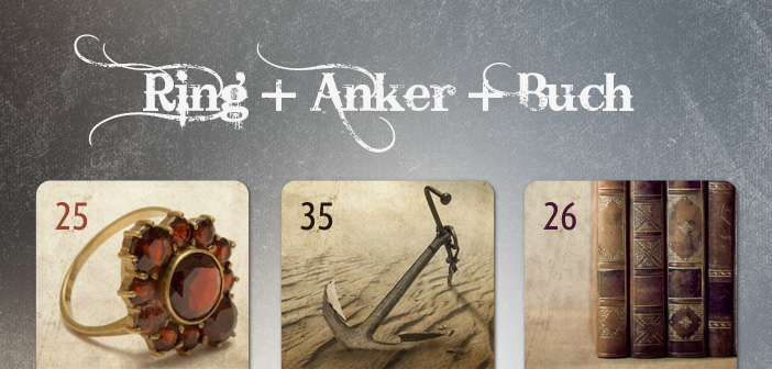 Lenormand Kombination Ring Anker Buch