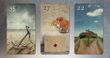 Lenormand Dreier Kombination Anker Brief Wege
