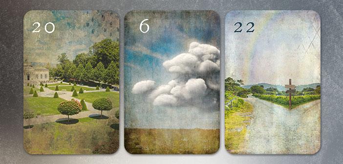 Kombination Park Wolken Wege